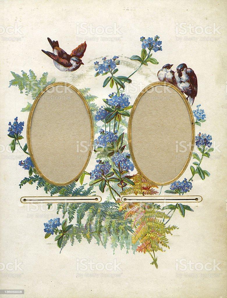Vintage flower frame (XXXL) royalty-free stock vector art