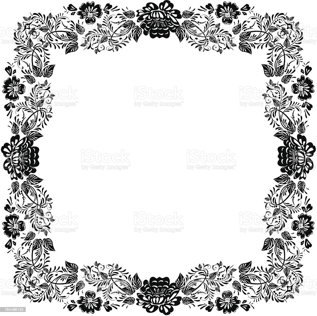 Vintage foliage frame royalty-free stock vector art