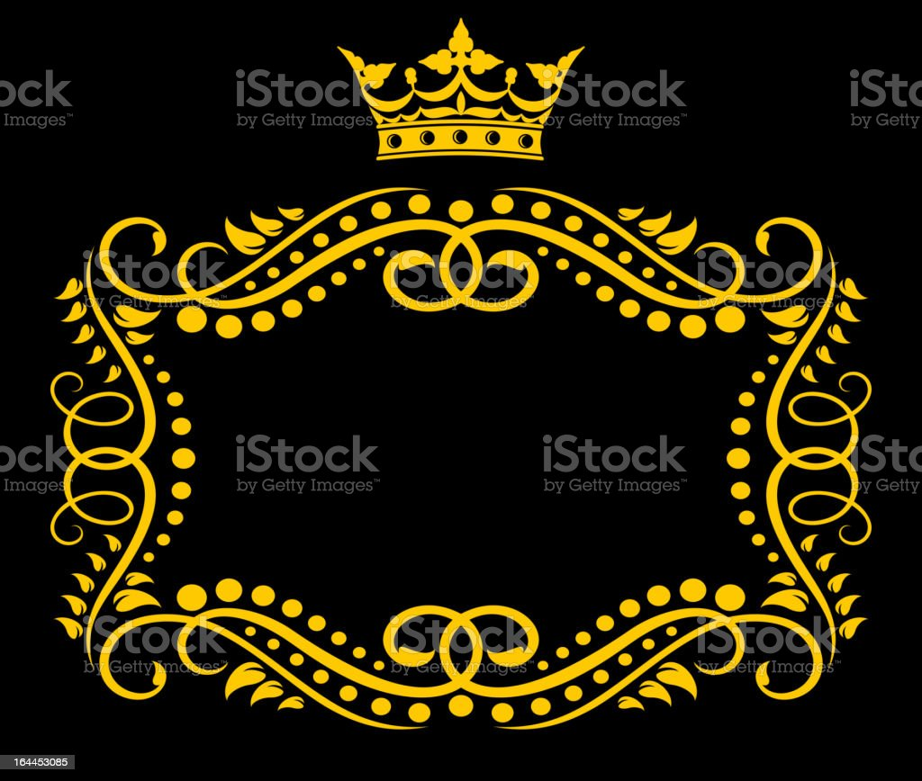 Vintage frame with crown royalty-free stock vector art