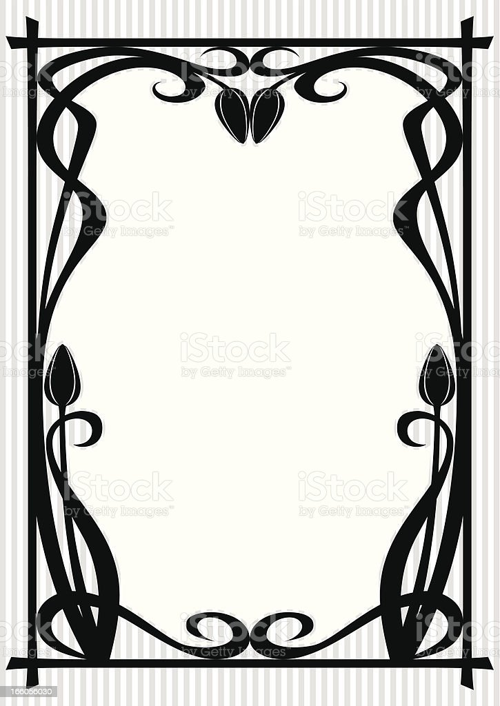 Vintage Frame with Tulip royalty-free stock vector art
