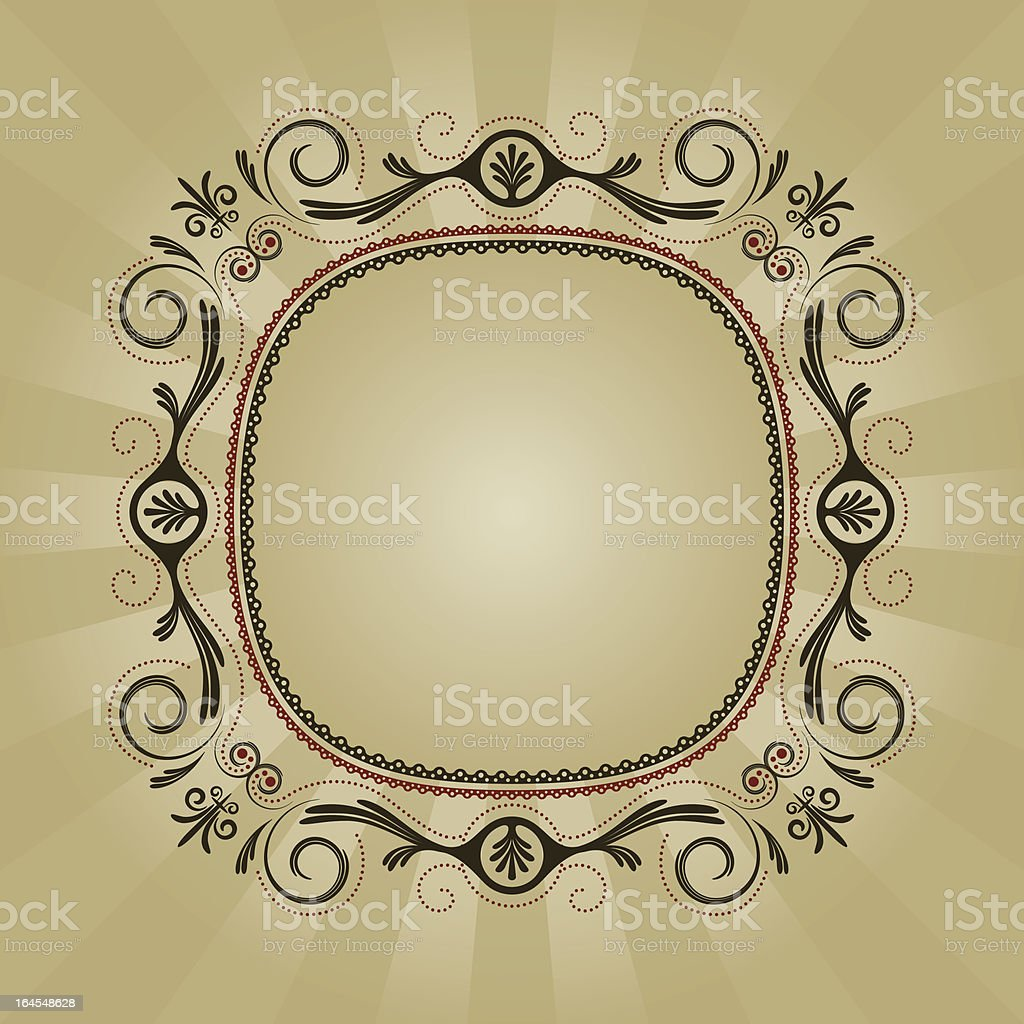 Vintage Frill Frame royalty-free stock vector art