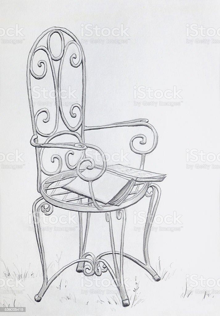 Stuhl Bleistiftzeichnung sdatec.com