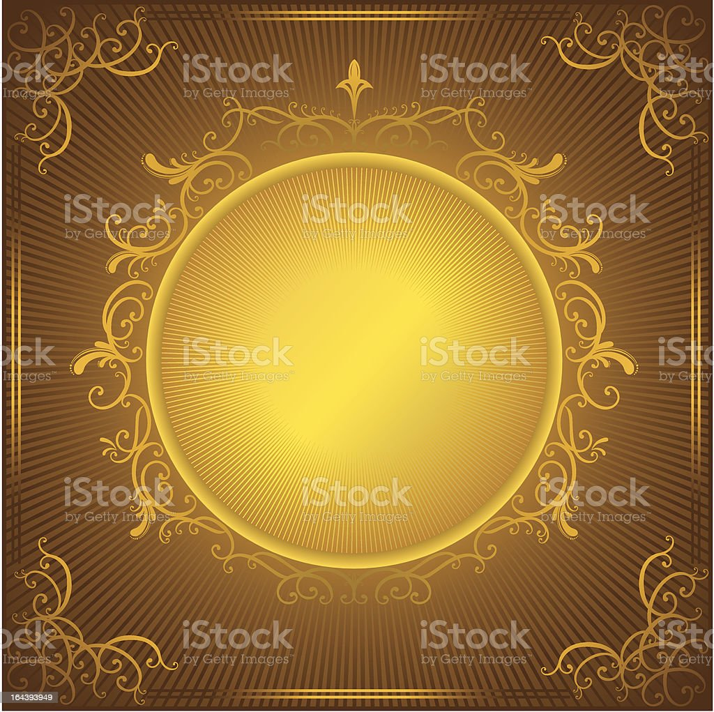 vintage gold frame royalty-free stock vector art