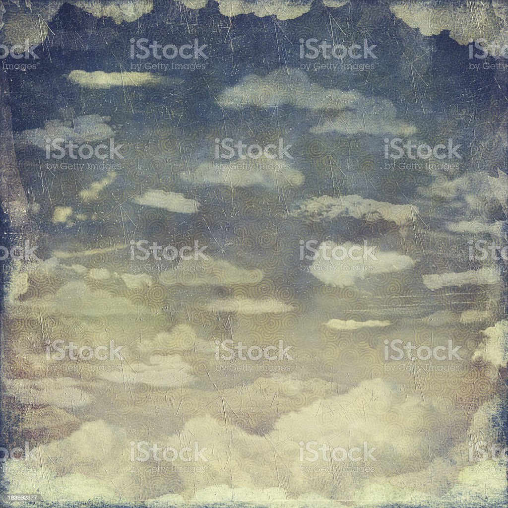 Vintage Grunge Sky royalty-free stock vector art