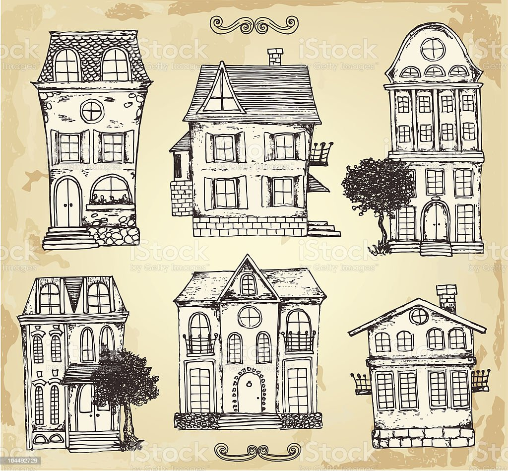 Vintage house vector art illustration