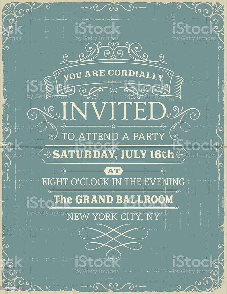 Vintage Invitation royalty-free stock vector art