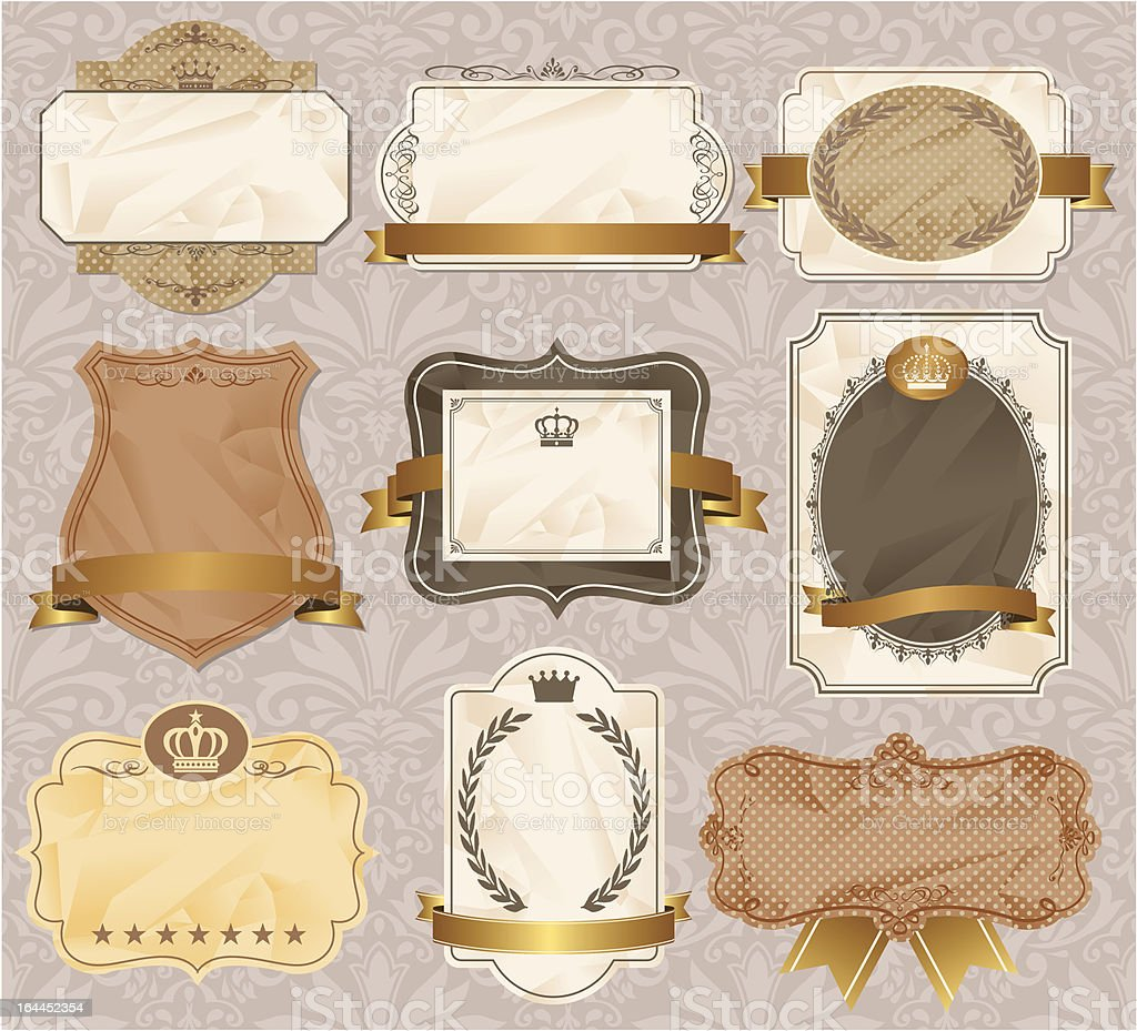 vintage label invitation frame royalty-free stock vector art