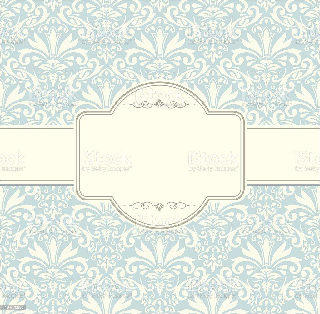 vintage label invitation vector frame blue royalty-free stock vector art