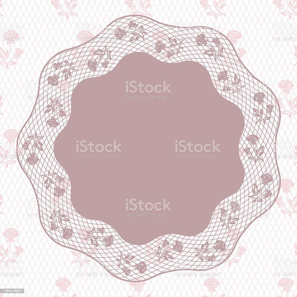 Vintage lace background, ornamental flowers. Vector card. royalty-free stock vector art