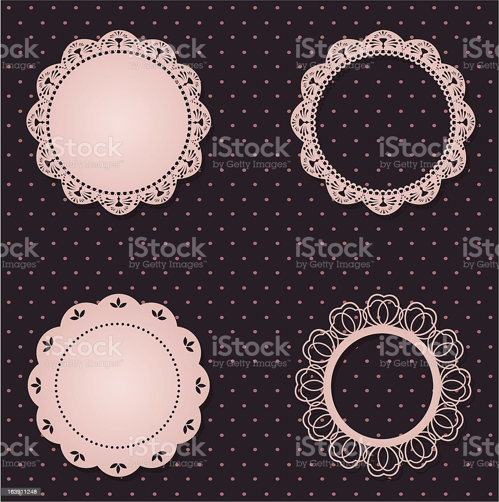 Vintage lace frames royalty-free stock vector art