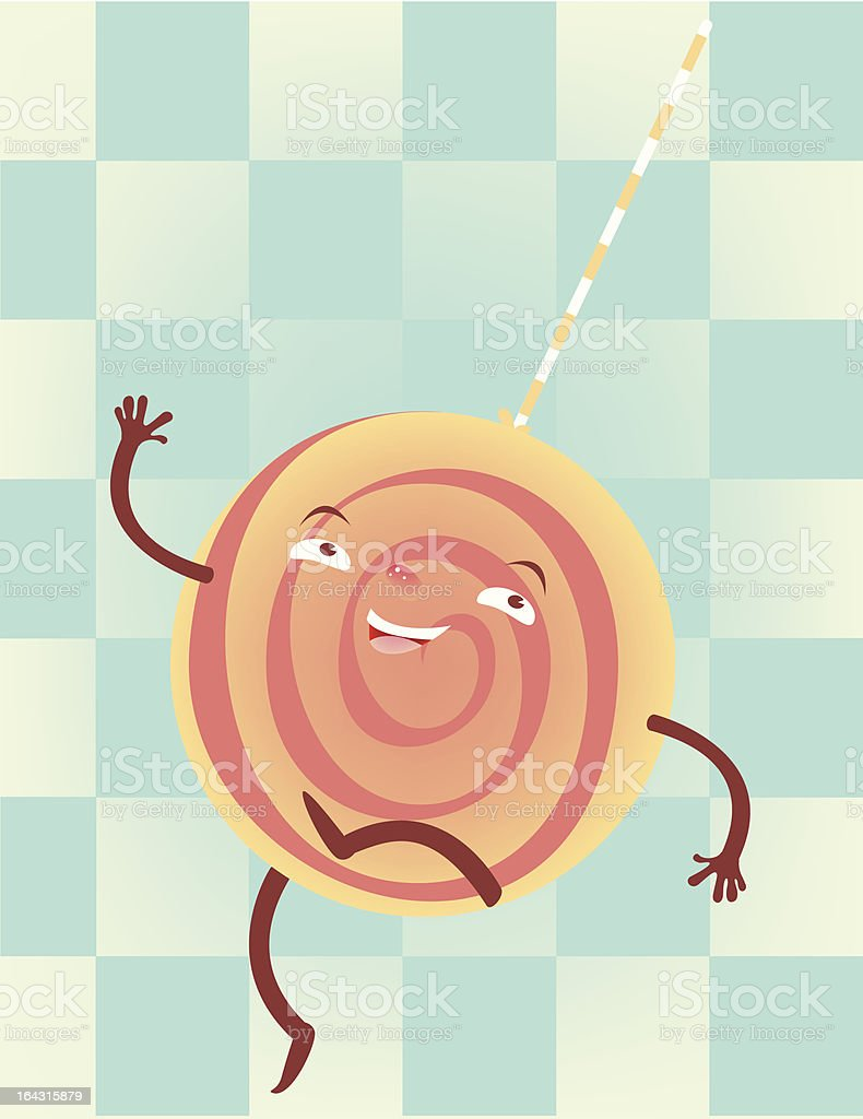 Vintage Lolly vector art illustration
