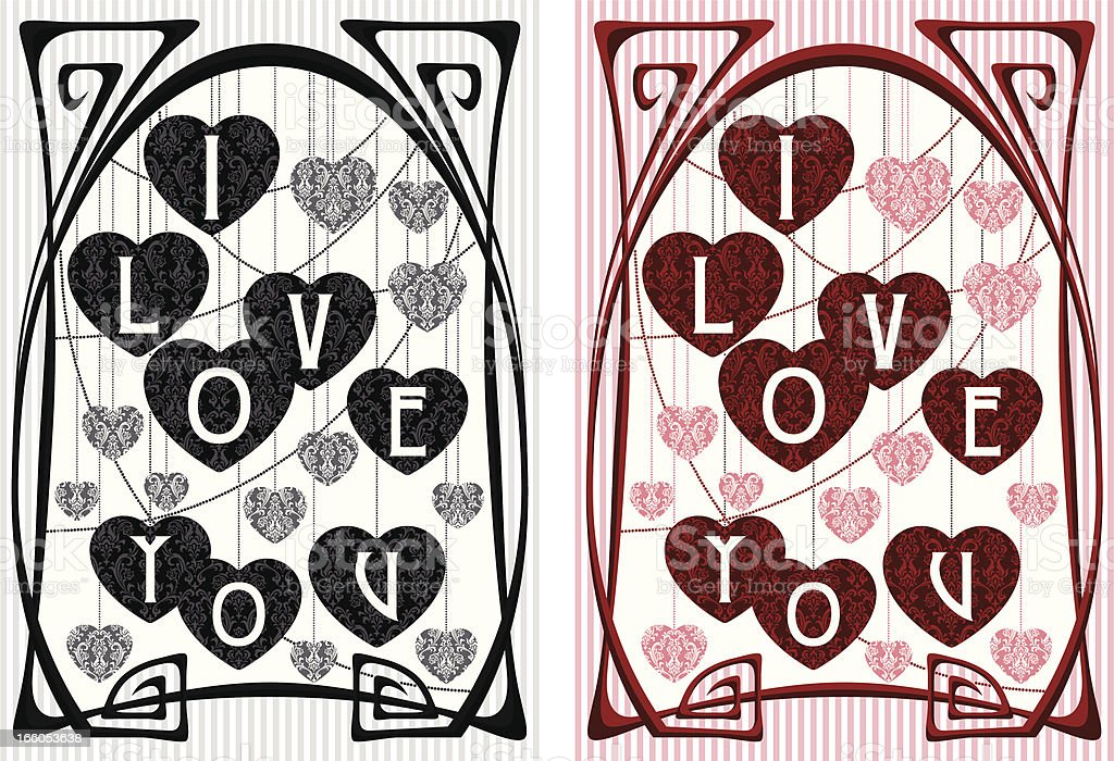 Vintage Love Greeting Card royalty-free stock vector art