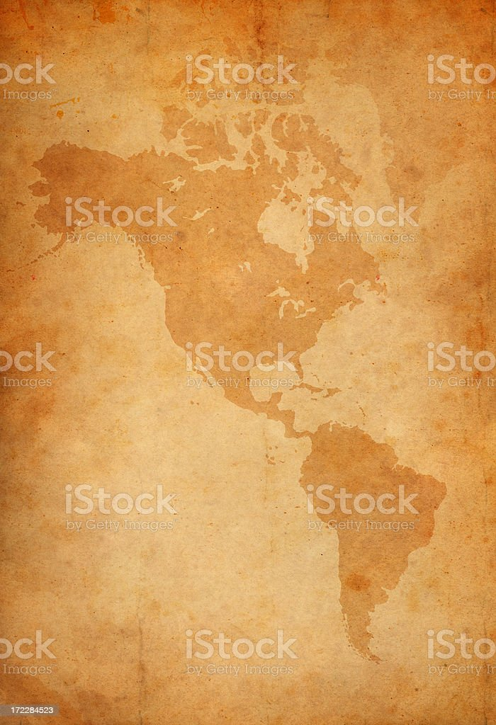 vintage map of the american continent royalty-free stock vector art