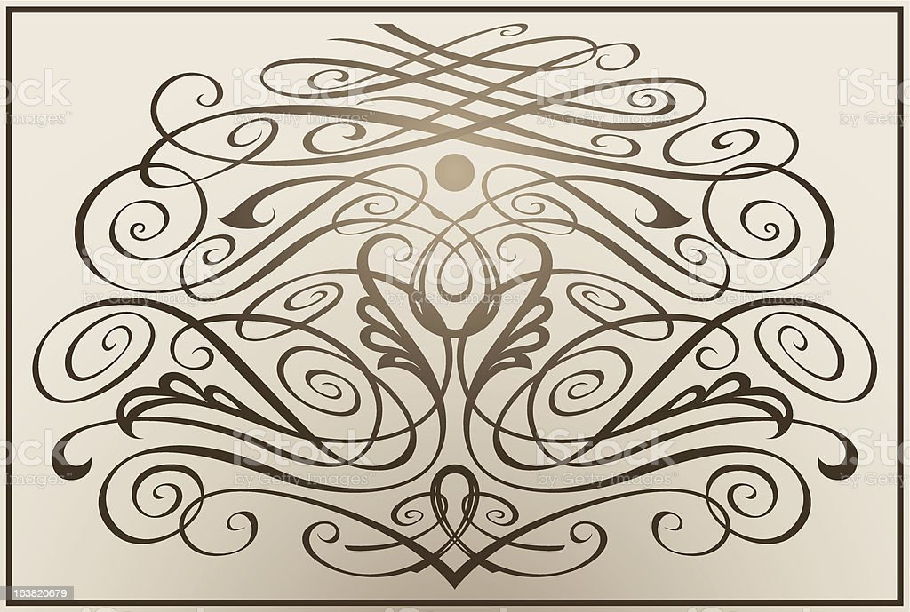 Vintage monogram royalty-free stock vector art