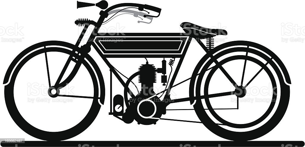 Vintage motorcycle royalty-free stock vector art