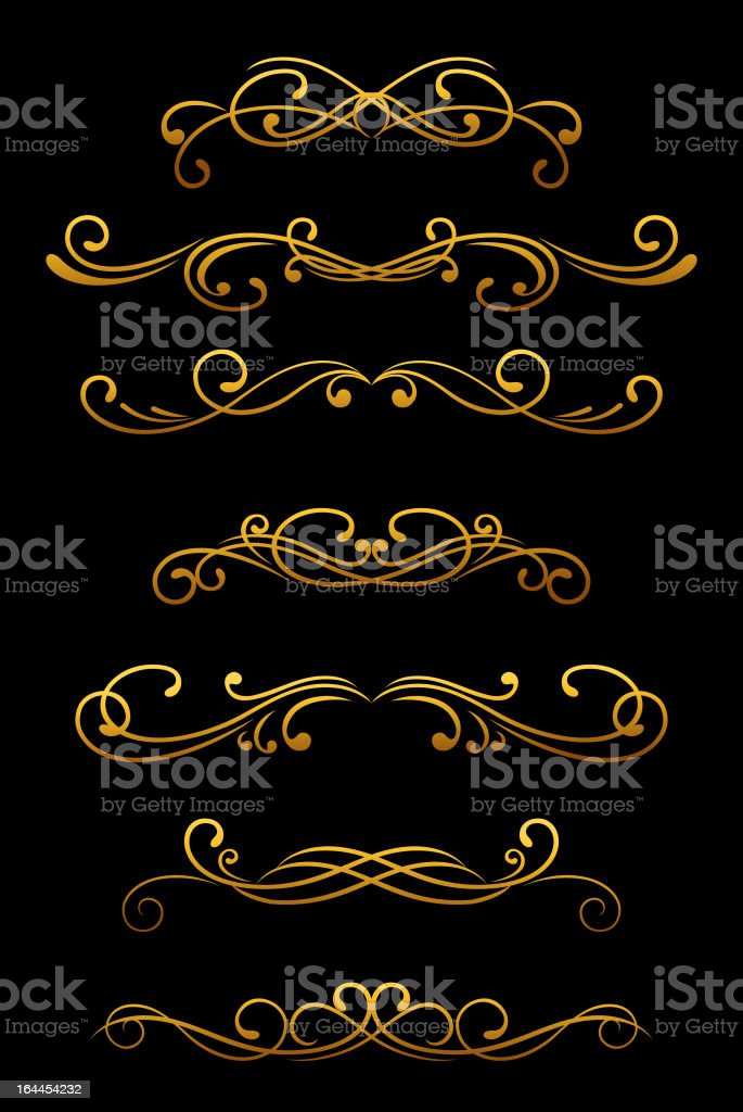 Vintage ornamental decoration royalty-free stock vector art