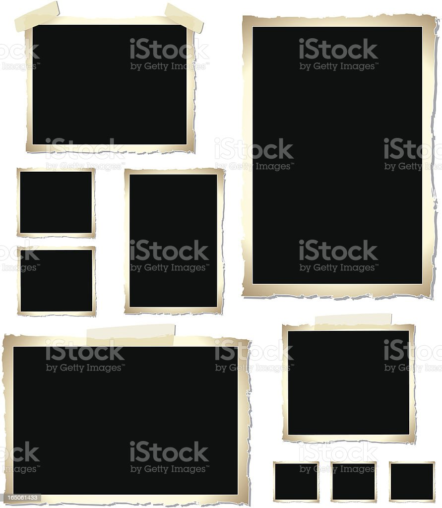 Vintage Photo Frames (vector) vector art illustration