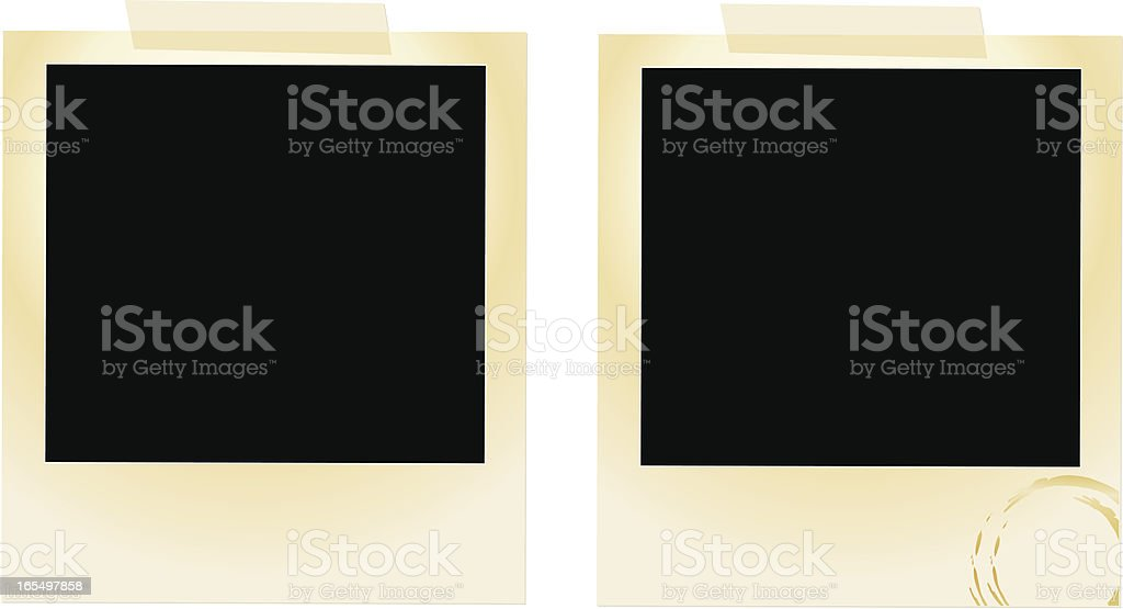 Vintage Photos royalty-free stock vector art