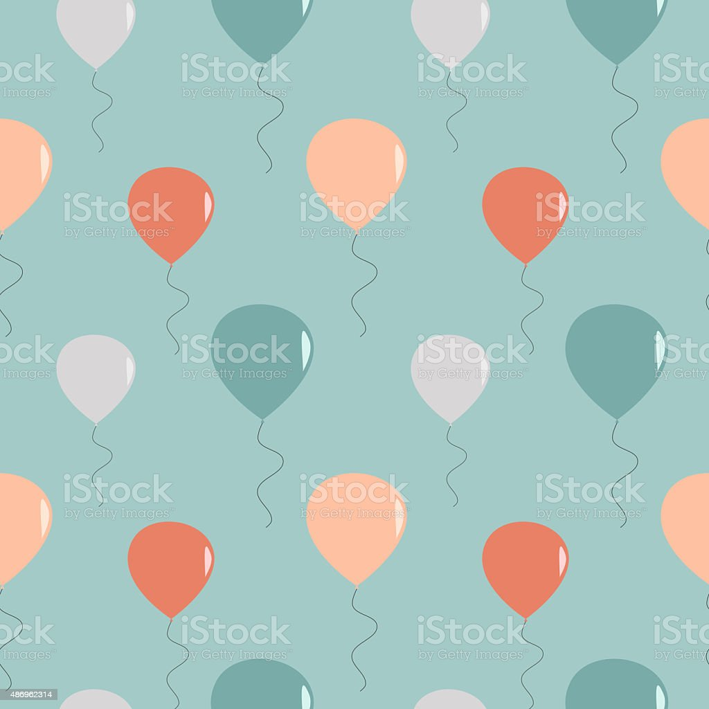 vintage retro balloons seamless pattern background illustration vector art illustration