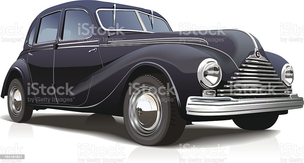 Vintage retro car royalty-free stock vector art