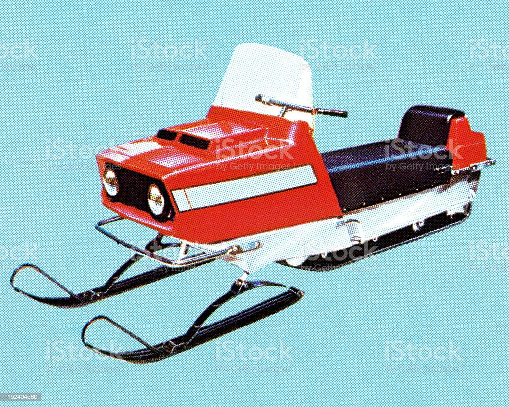 Vintage Snowmobile royalty-free stock vector art