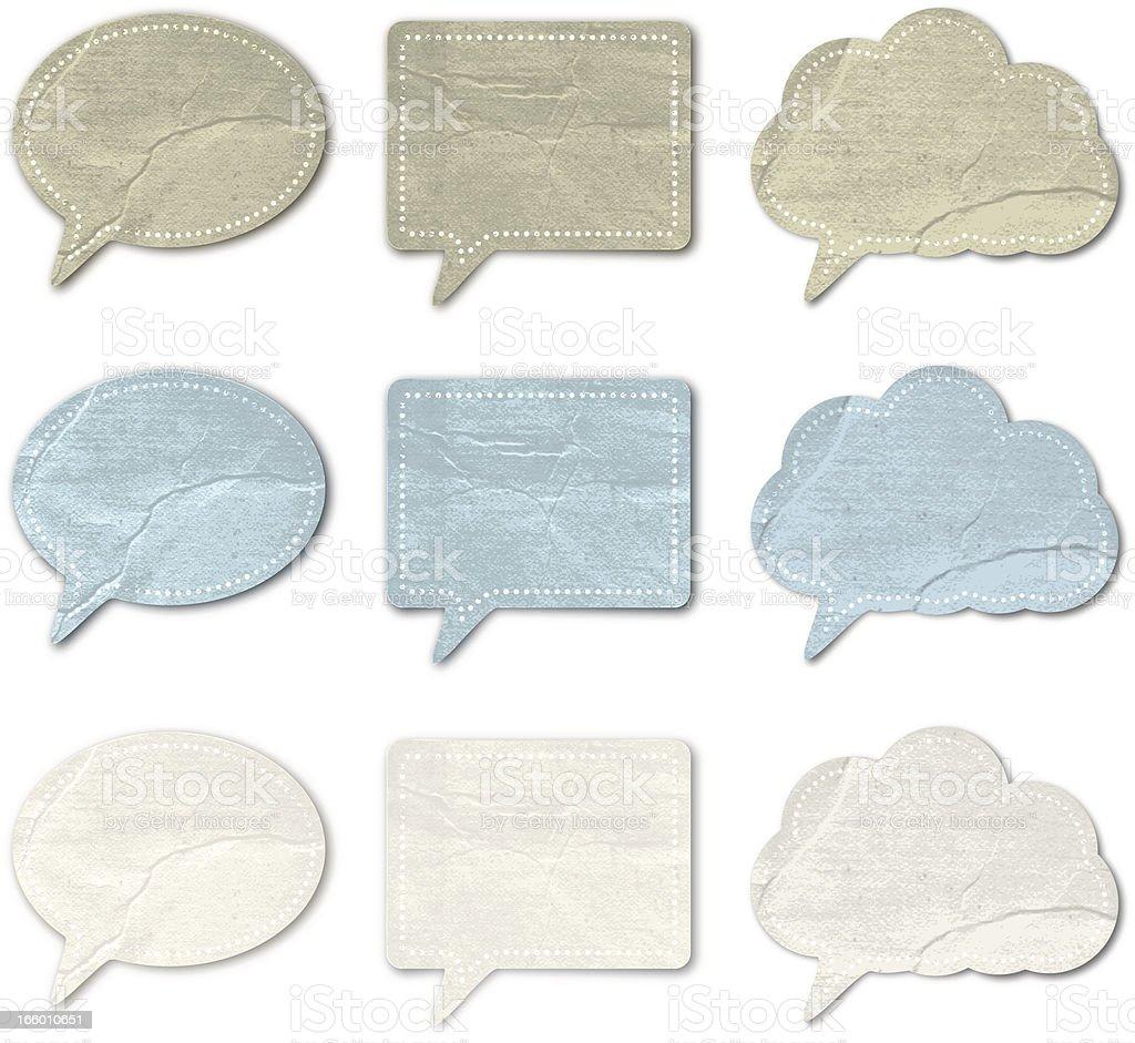 Vintage Speech bubbles royalty-free stock vector art