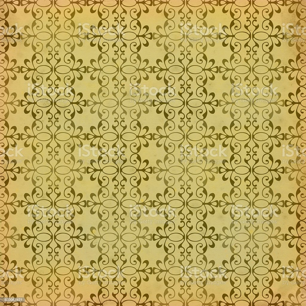 Vintage stained wallpaper with curved elements vector art illustration