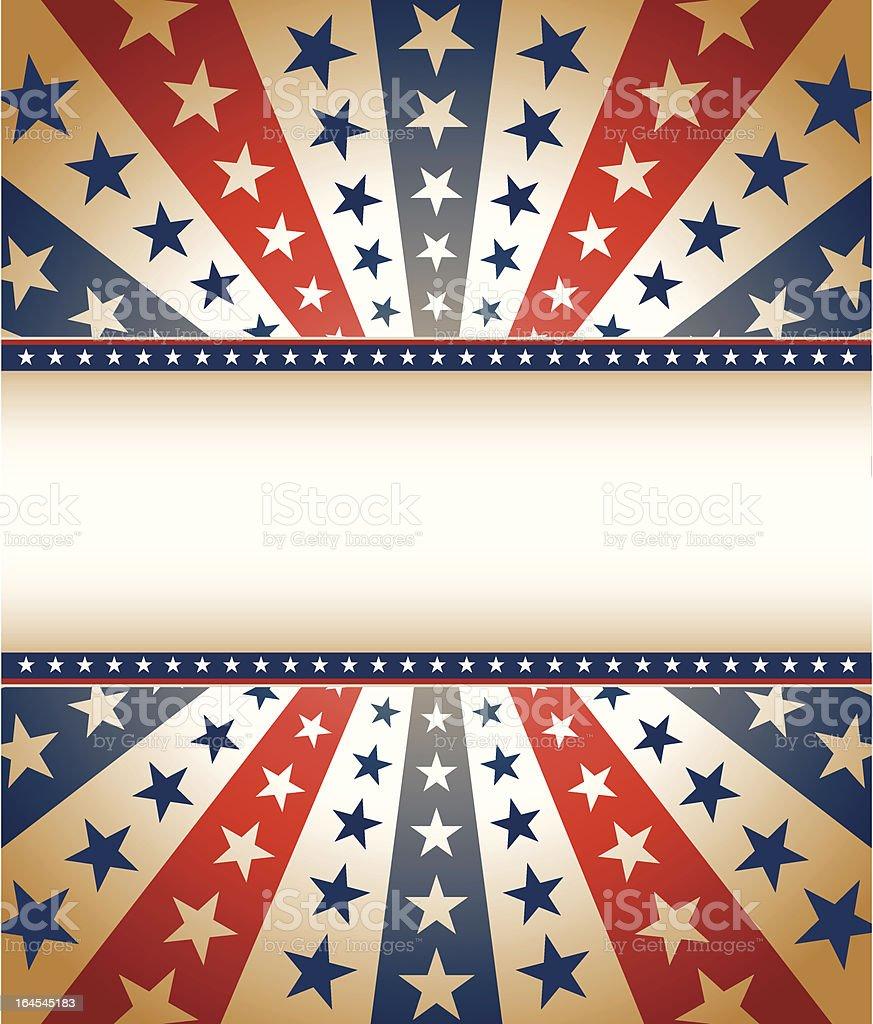 Vintage Star Spangled Banner royalty-free stock vector art