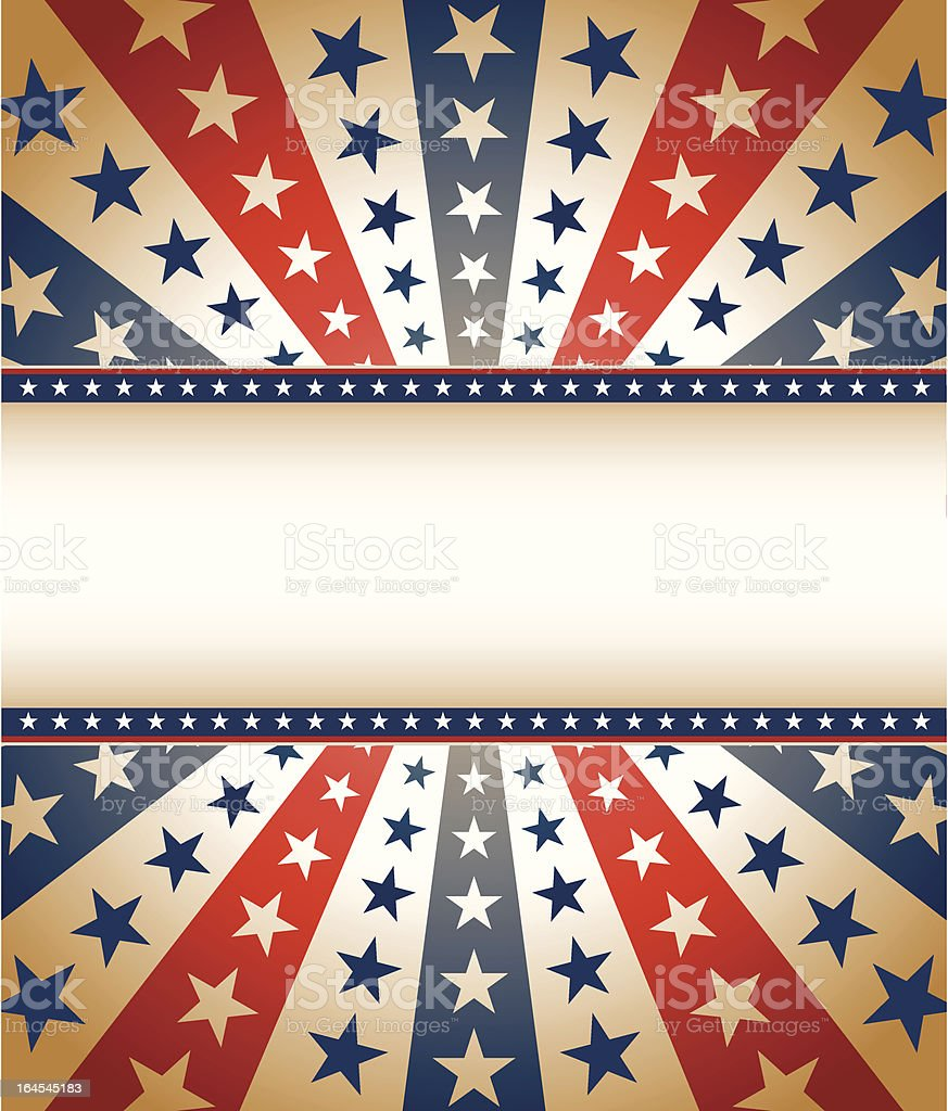Vintage Star Spangled Banner vector art illustration