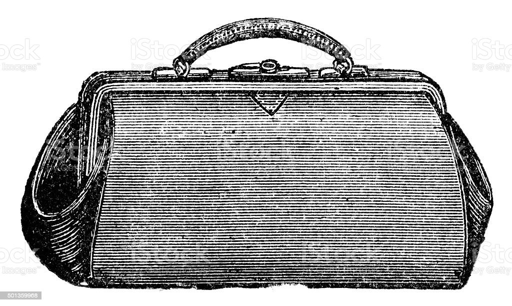 Vintage Suitcase vector art illustration