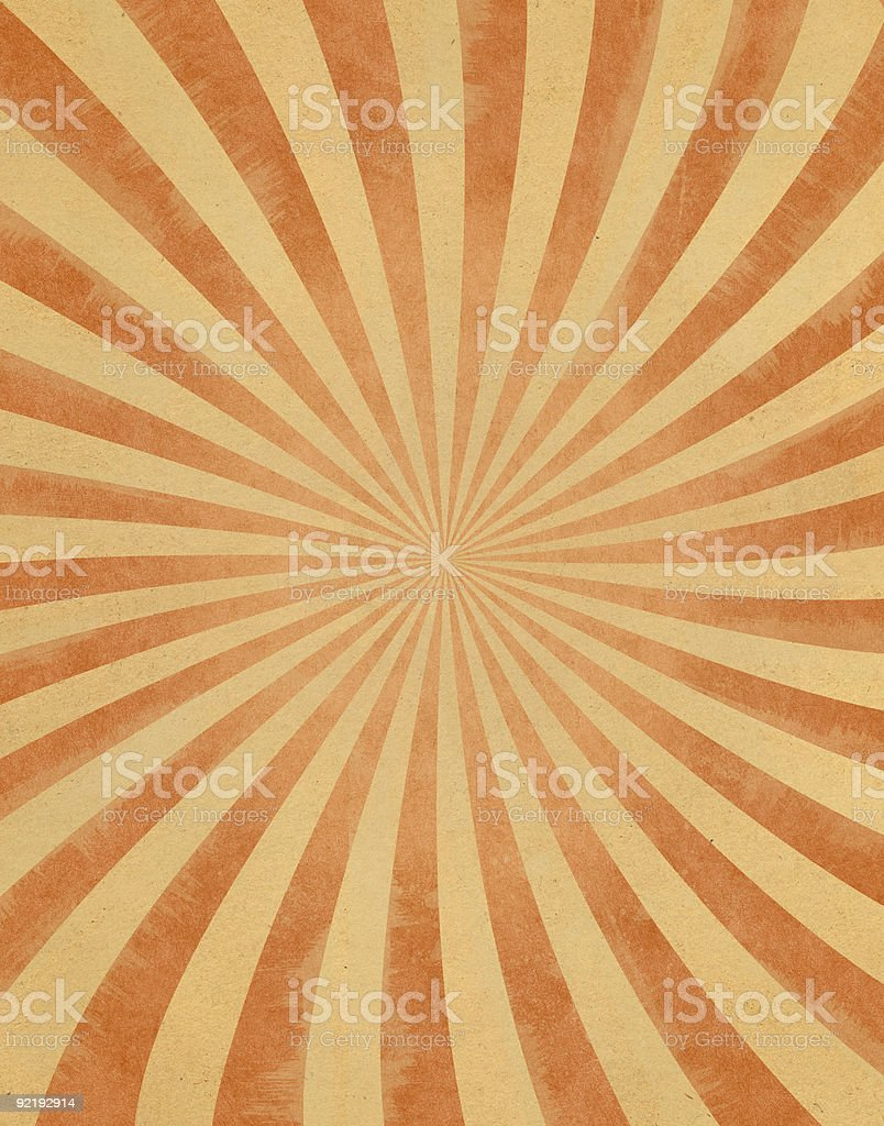 Vintage Sunbeams on Paper royalty-free stock vector art