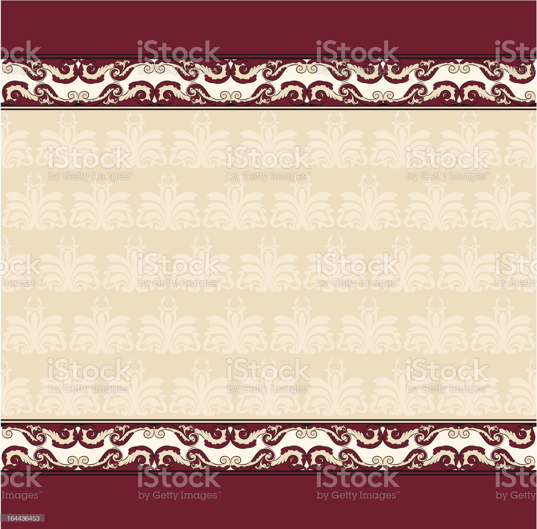 Vintage tapestry background. Vector royalty-free stock vector art