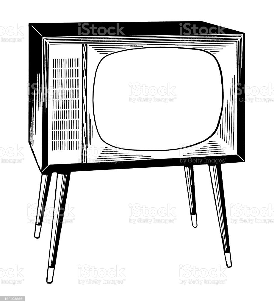 Vintage Television royalty-free stock vector art