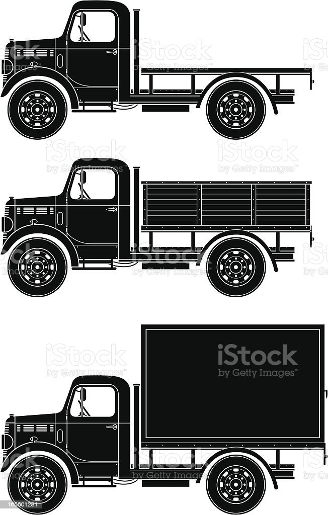 Vintage truck vector art illustration