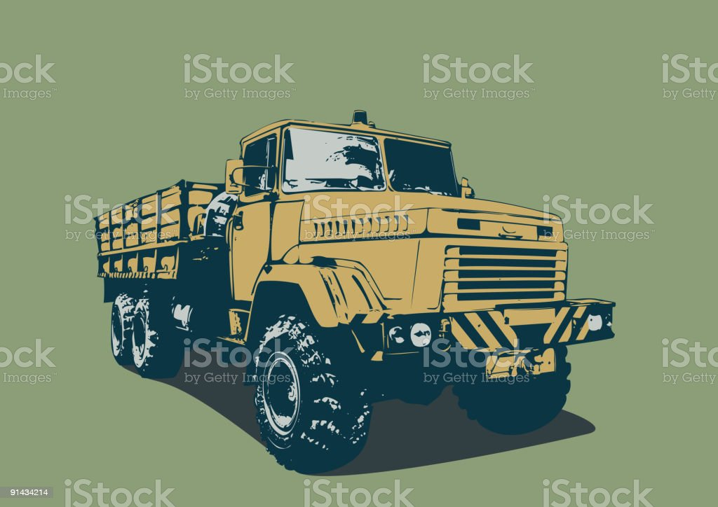 vintage  truck royalty-free stock vector art