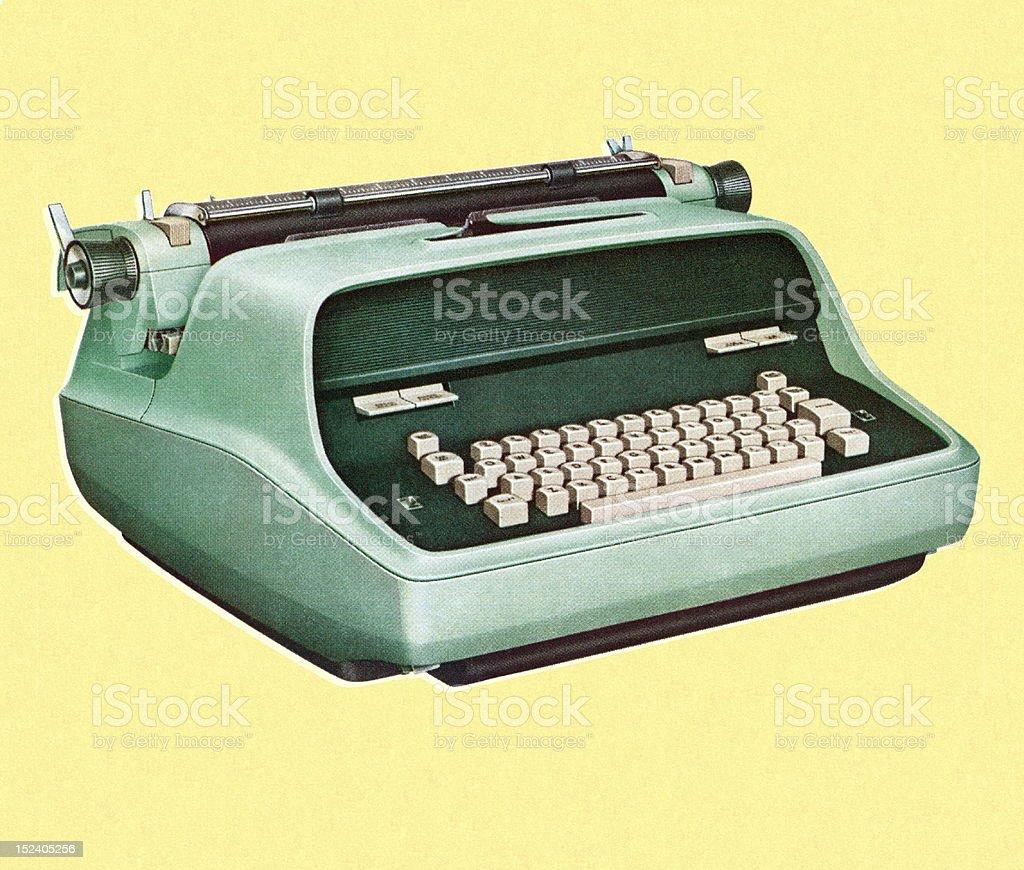 Vintage Typewriter vector art illustration