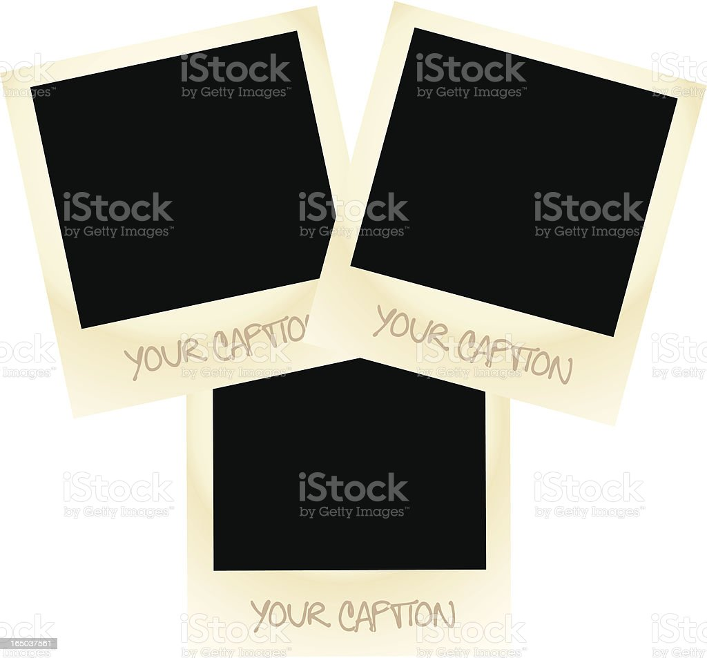 Vintage Vector Photo Frames royalty-free stock vector art