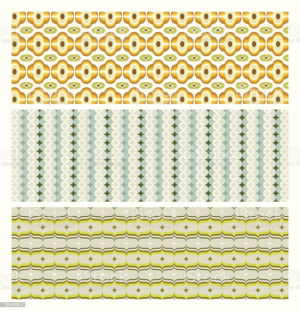 Vintage wallpapers collection royalty-free stock vector art
