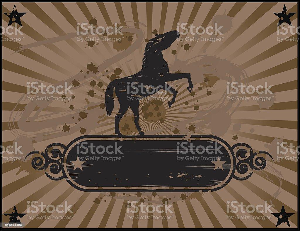 Vintage wild horse design royalty-free stock vector art