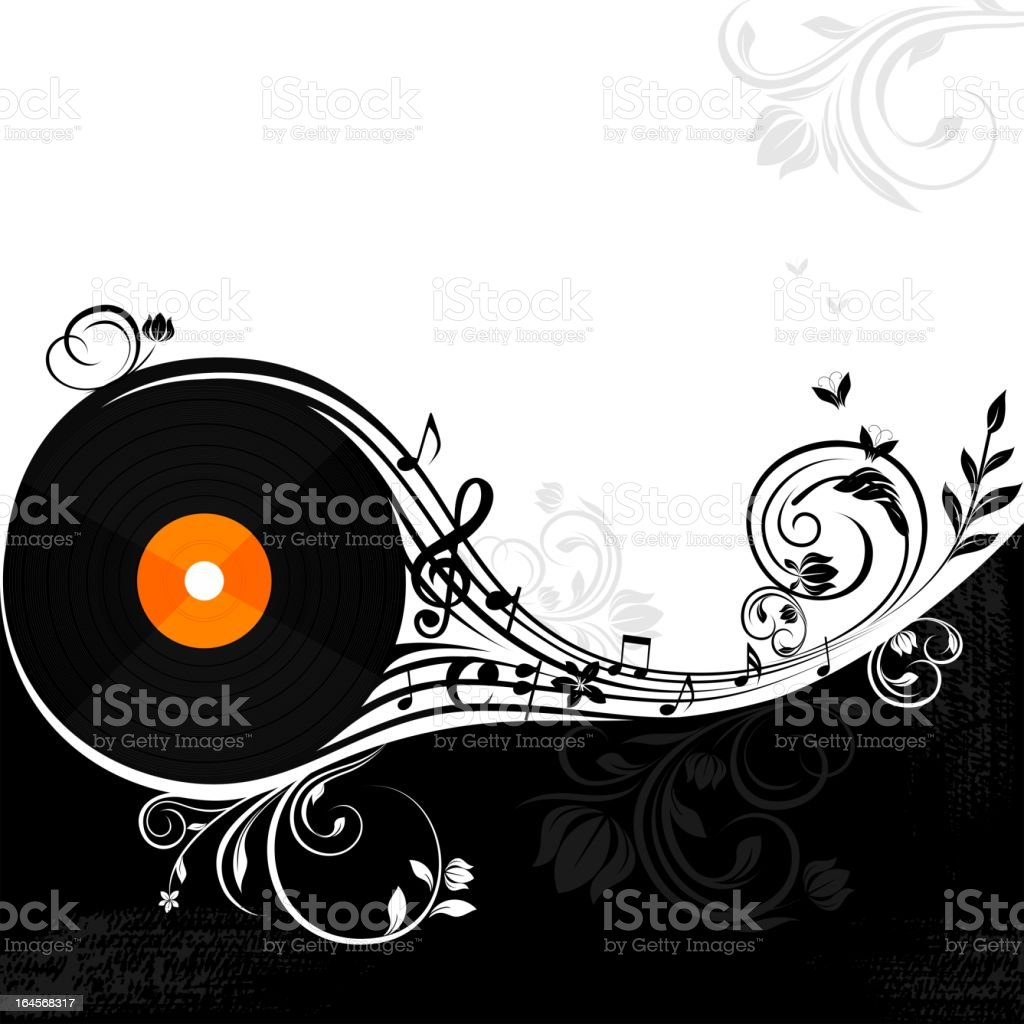 Vinyl Music background royalty-free stock vector art