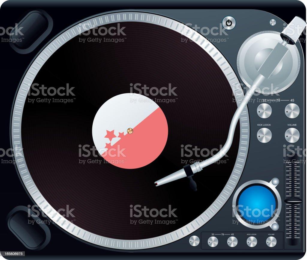 Vinyl player vector art illustration