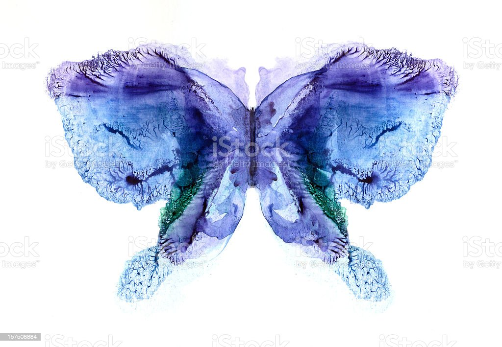 Violet - blue butterfly royalty-free stock vector art