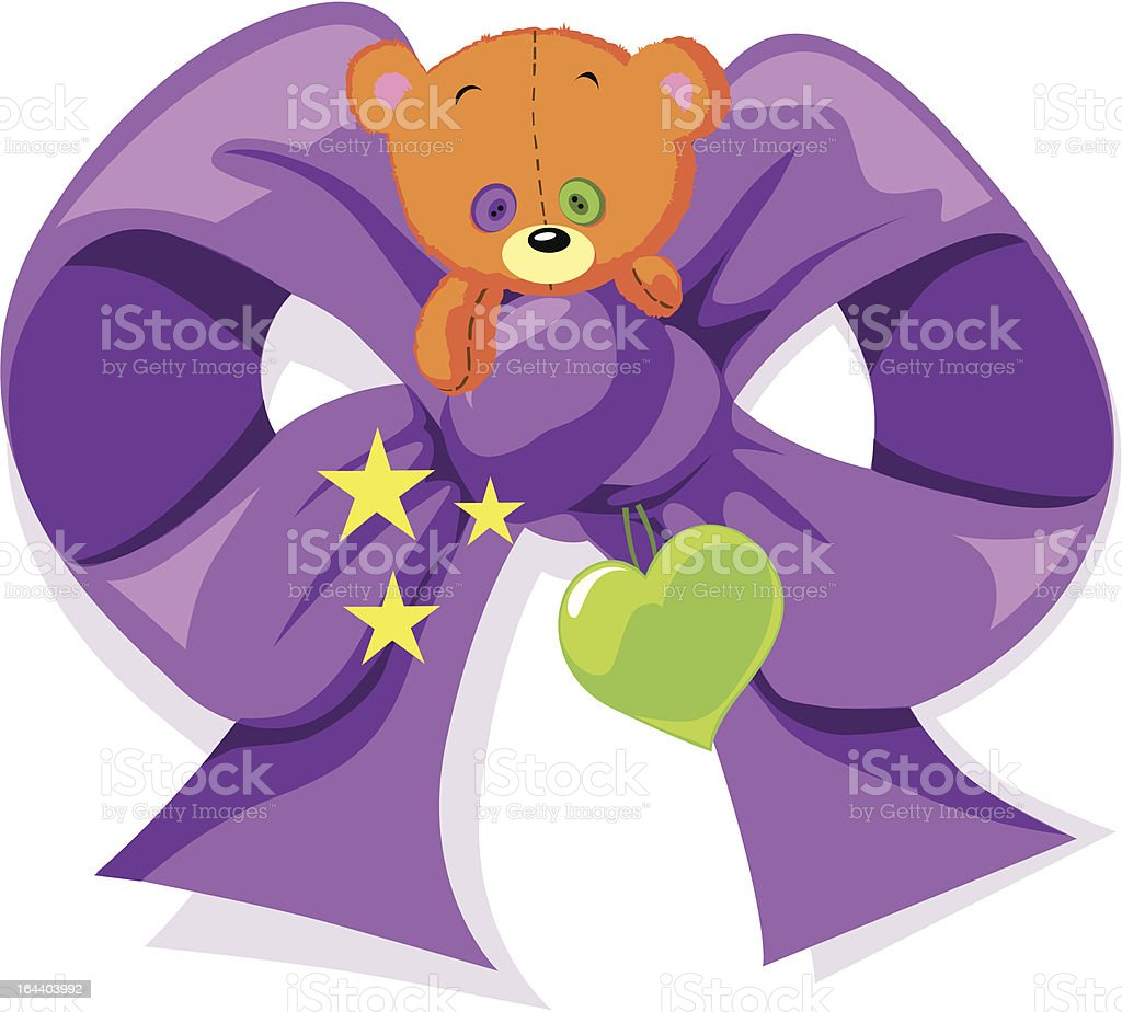 violet bow royalty-free stock vector art
