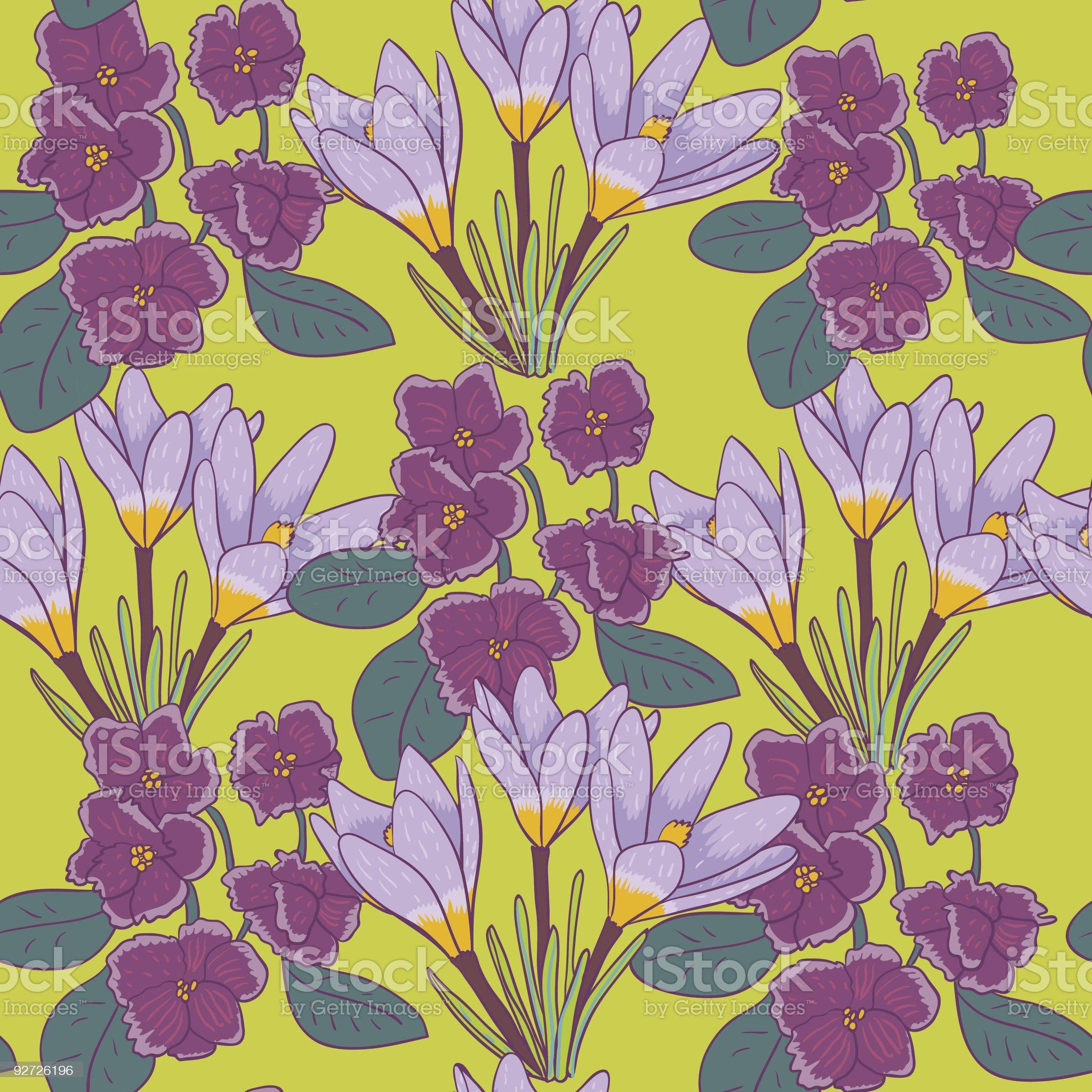 Violet flowers royalty-free stock vector art