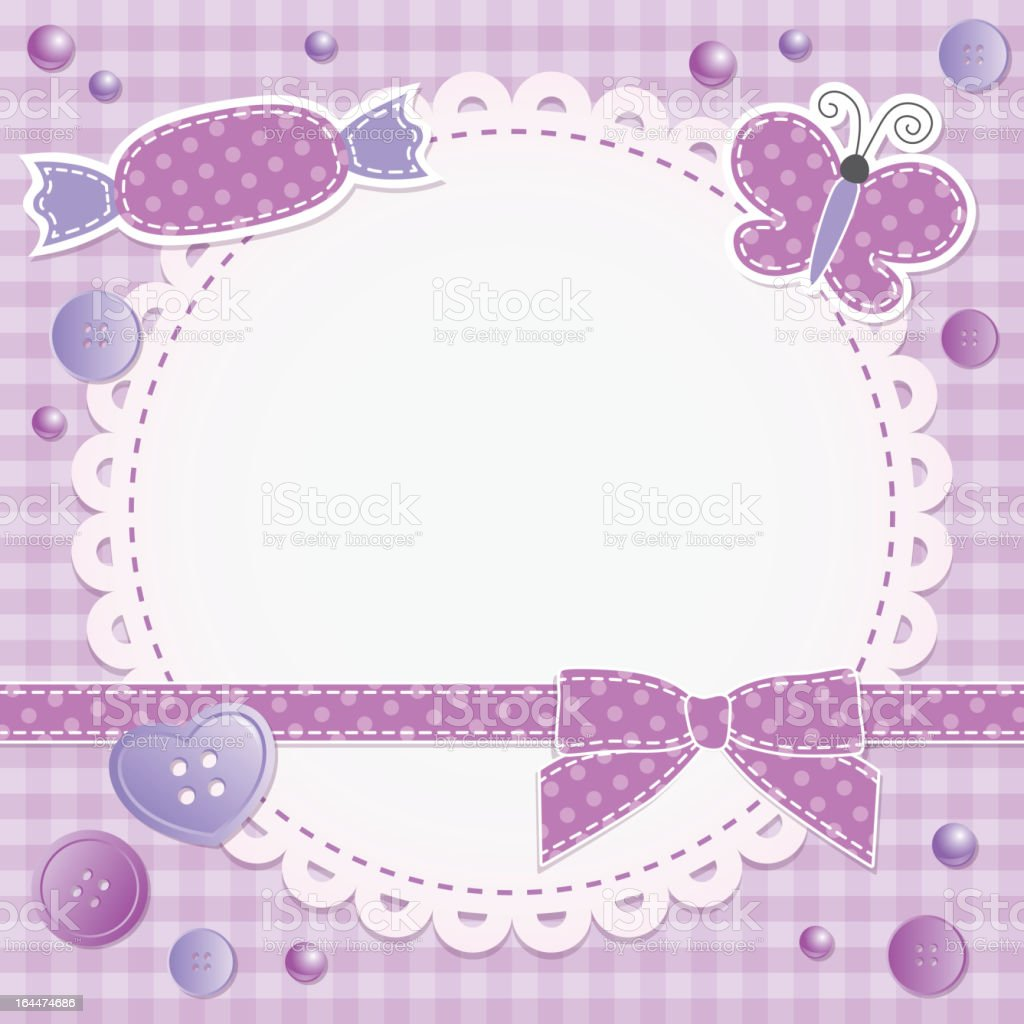 violet frame, vector eps 10 royalty-free stock vector art