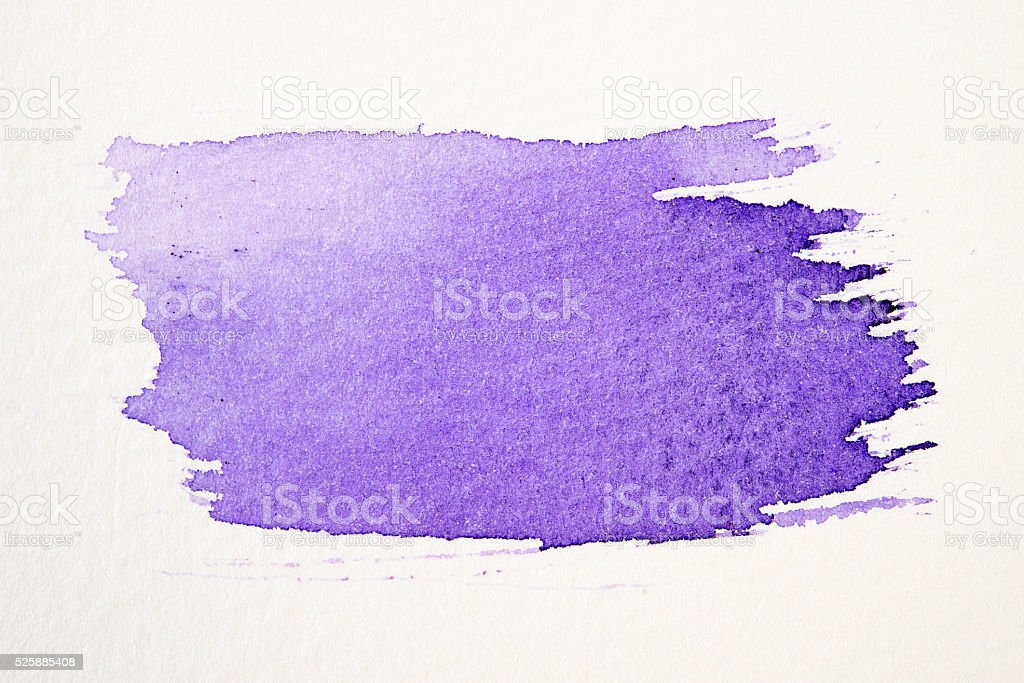 Violet stroke of paint brush vector art illustration