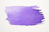 Violet stroke of paint brush