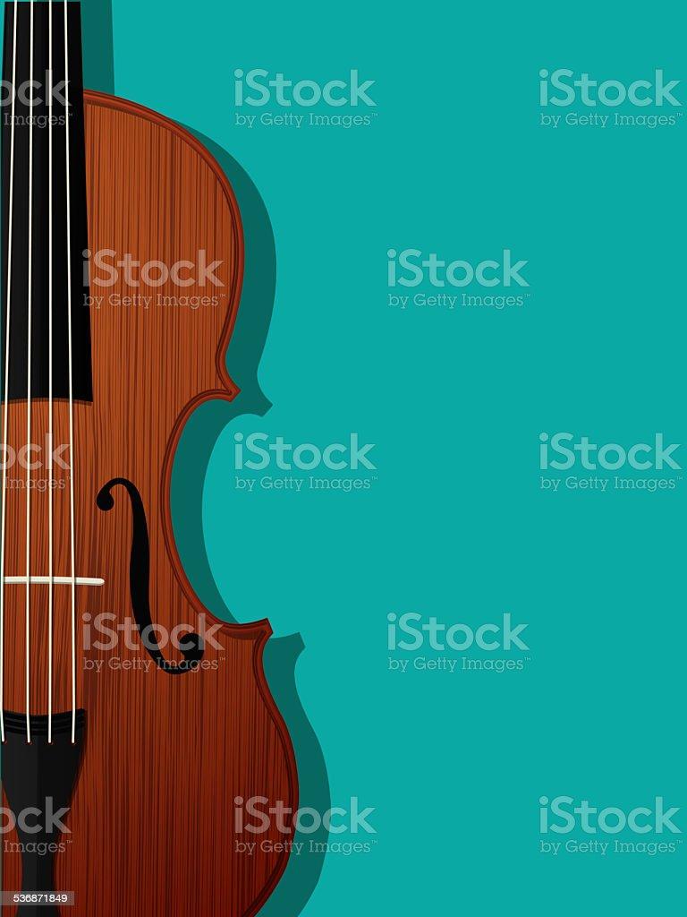 Violin composition vector art illustration