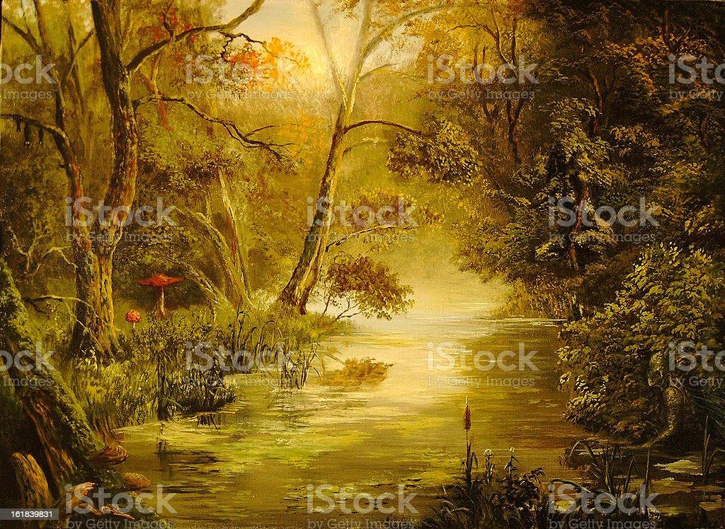 virgin forest vector art illustration