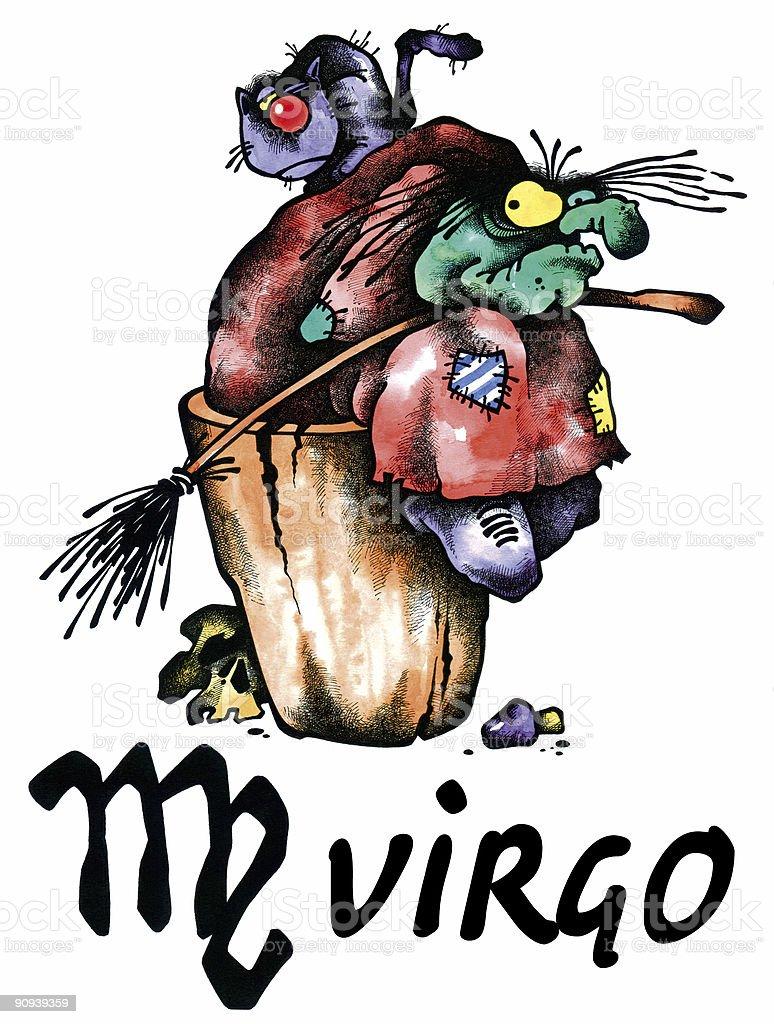 Virgo illustration royalty-free stock vector art
